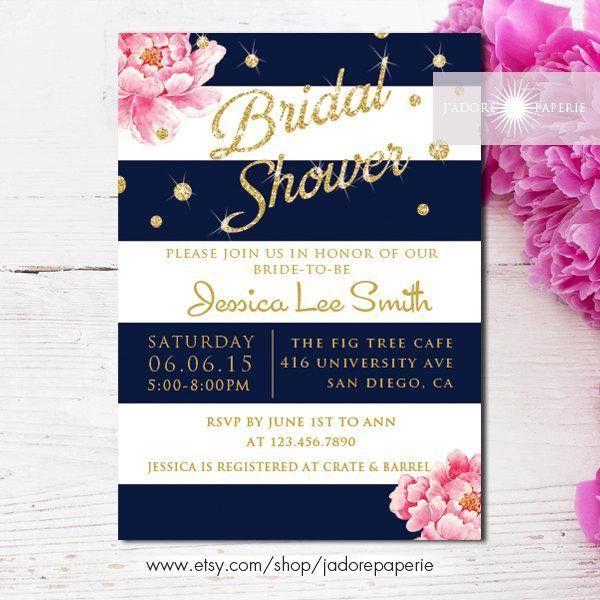 Bridal Shower Invitation, Printable Bridal Shower Invite, Peony ...