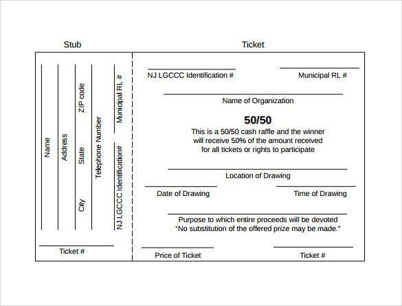 Sample Raffle Ticket Template - 20+ PDF, PSD, Illustration, Word ...