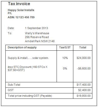 Invoice Template Australia No Gst | invoice example