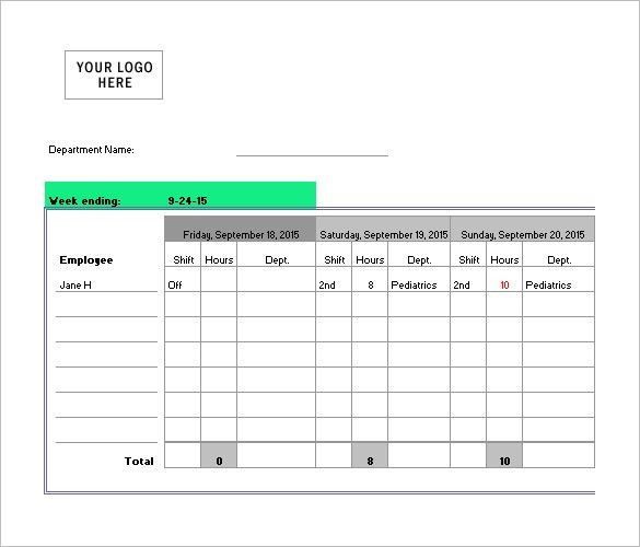 Nursing Schedule Template – 7+ Free Word, Excel, PDF Format ...
