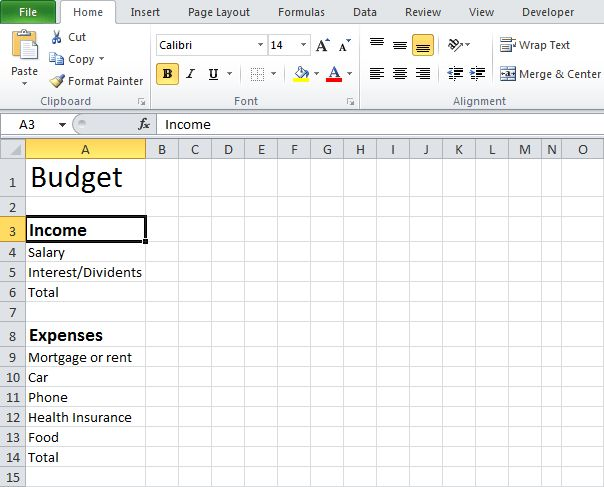 How to Create an Excel Budget | Excel XLSX Templates