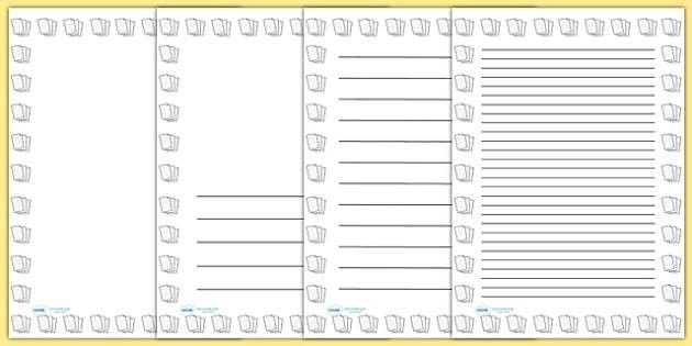Lined Paper Portrait Page Borders- Portrait Page Borders - Page