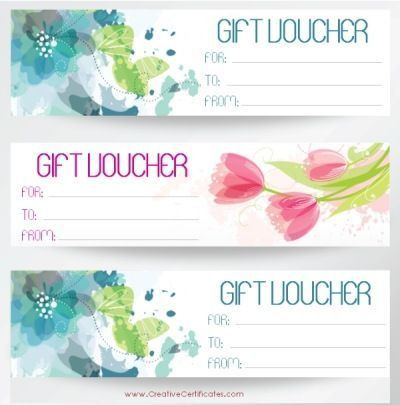 Free printable gift vouchers. Instant download. No registration ...