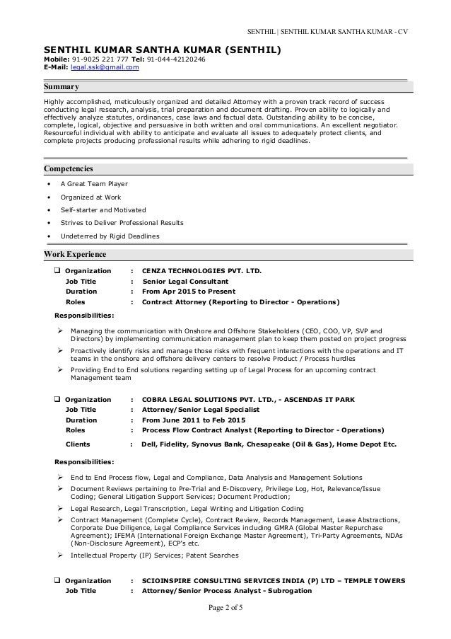 Senthil kumar s cv with cover letter