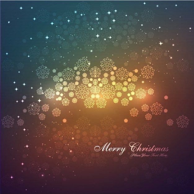 Merry Christmas card with snowflakes background Vector | Free Download