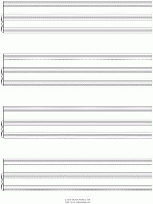 """Musicnotes.com """"Manuscript Paper for Piano + Solo (Free Blank ..."""