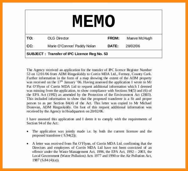 6+ internal memo example | musicre sumed