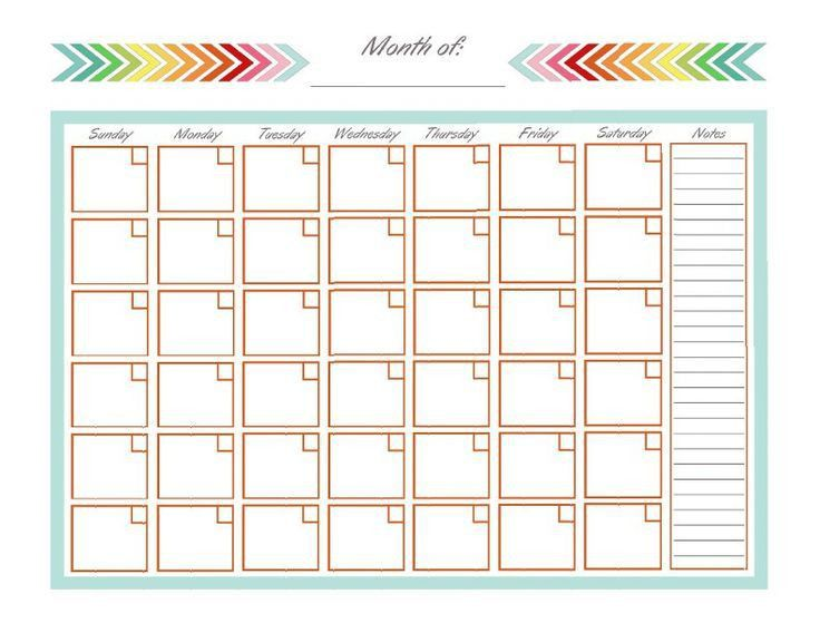 Best 25+ Blank calendar template ideas only on Pinterest | Free ...