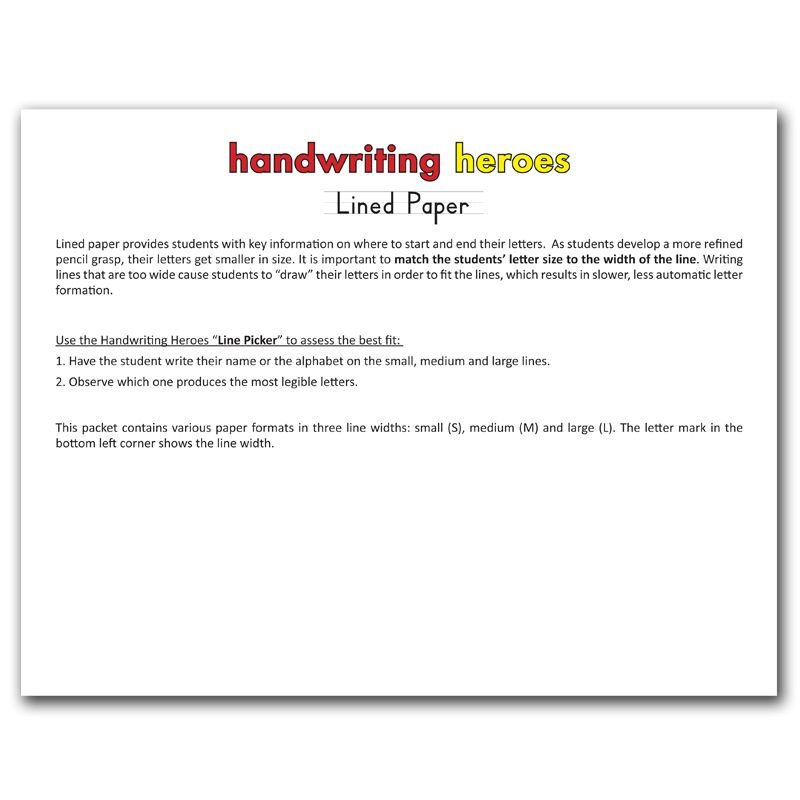 """Three-Lined Handwriting Paper and bonus """"Line Picker""""   AppyTherapy"""