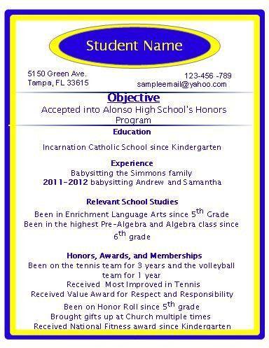 ICS Media Literacy - Sample Resumes