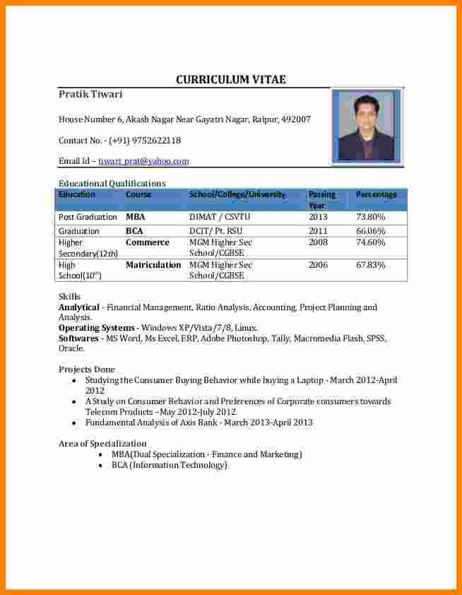 attractive resume format for freshers best 25 resume format ideas