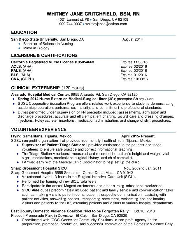 RN RESUME New Grad draft 1