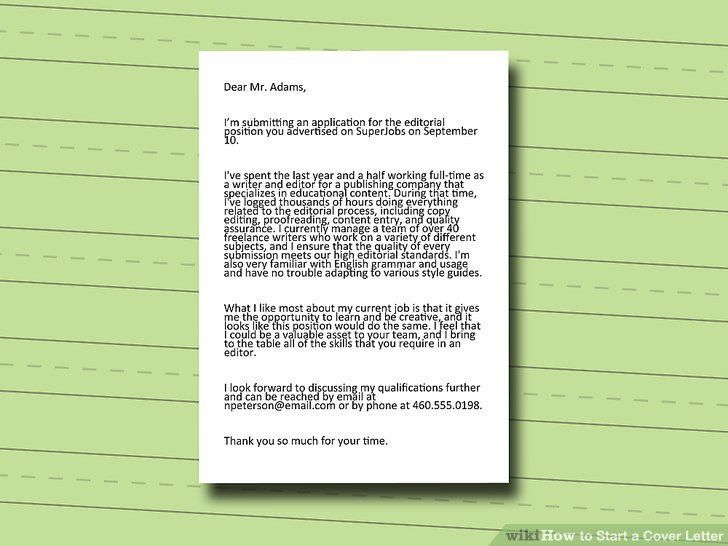 How To Start A Cover Letter For A Job - uxhandy.com