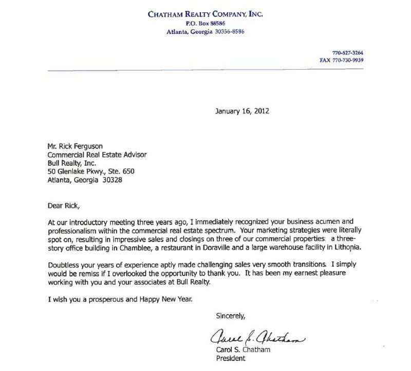 Representation reference letter - It pays to do good work and put ...