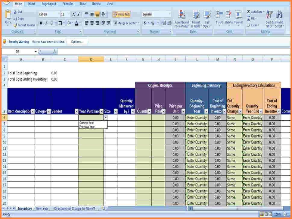 8+ inventory spreadsheet template for excel | Excel Spreadsheets Group