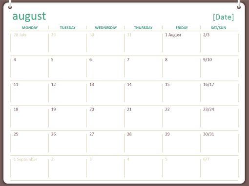 calendar template for powerpoint free calendar 2017 template for ...