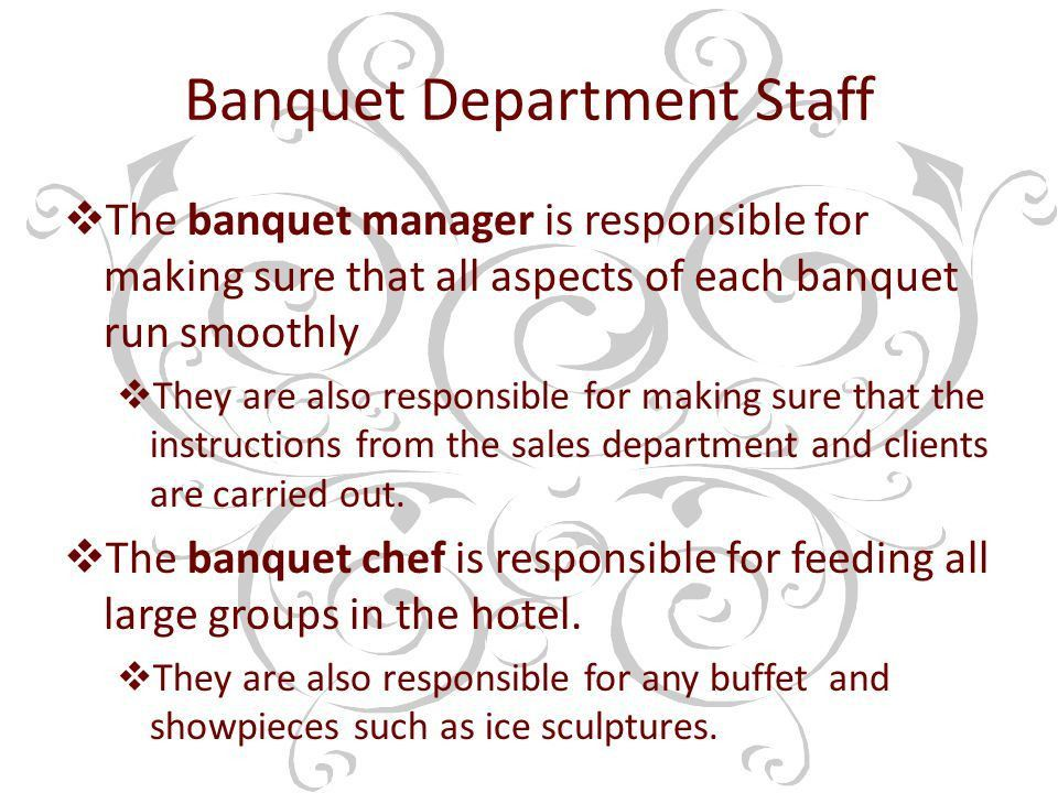 The Banquet Department - ppt download