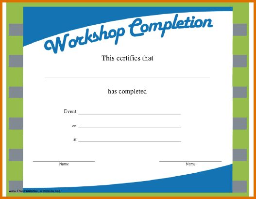 7+ free printable certificates of completionReference Letters ...
