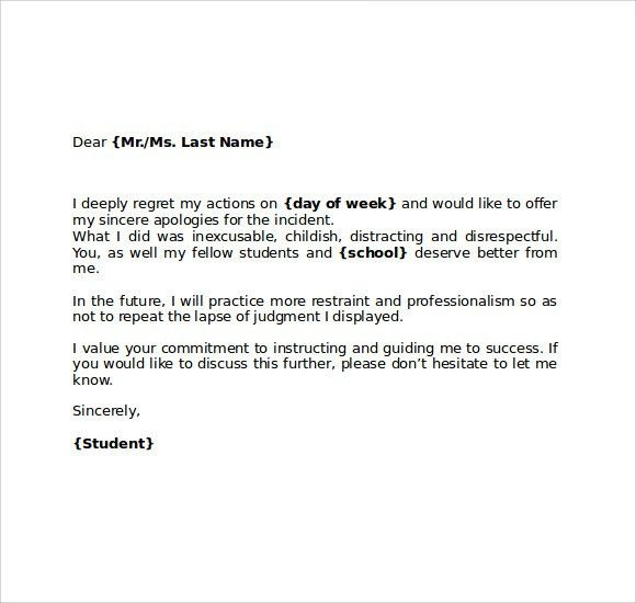 How To Write A Formal Letter Of Apology Your Boss - Cover Letter ...