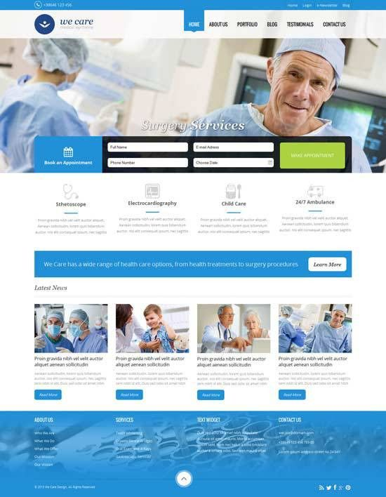 70+ Best Health and Medical Website Templates Free & Premium ...