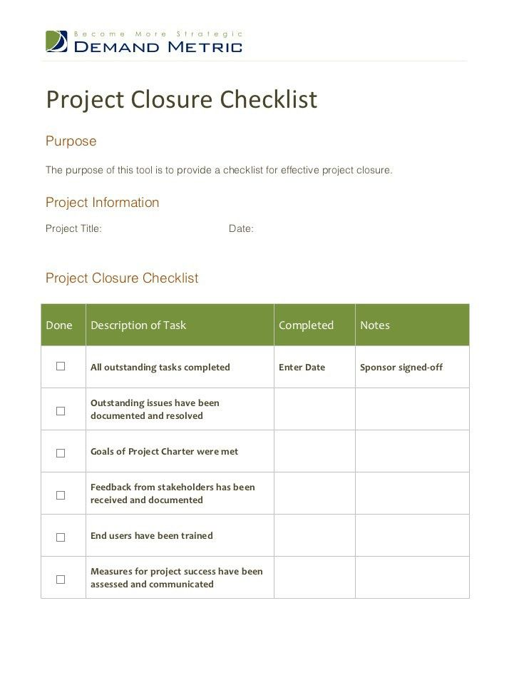Project Checklist. Project Status Report Template Excel Template ...