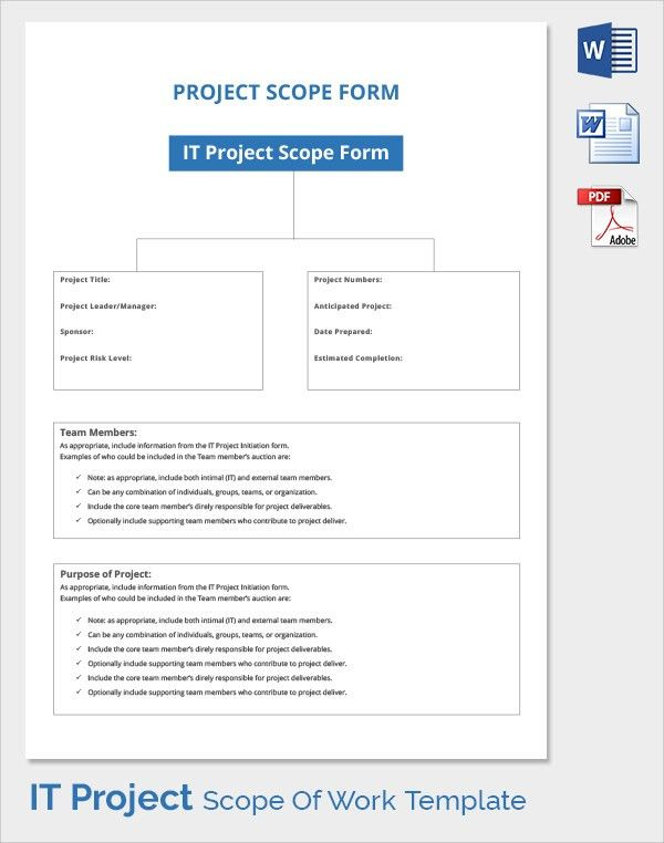 Project Scope Template | cyberuse