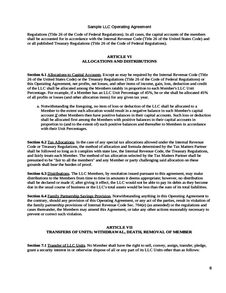 Operating Agreement of the Big Venture, LLC Free Download