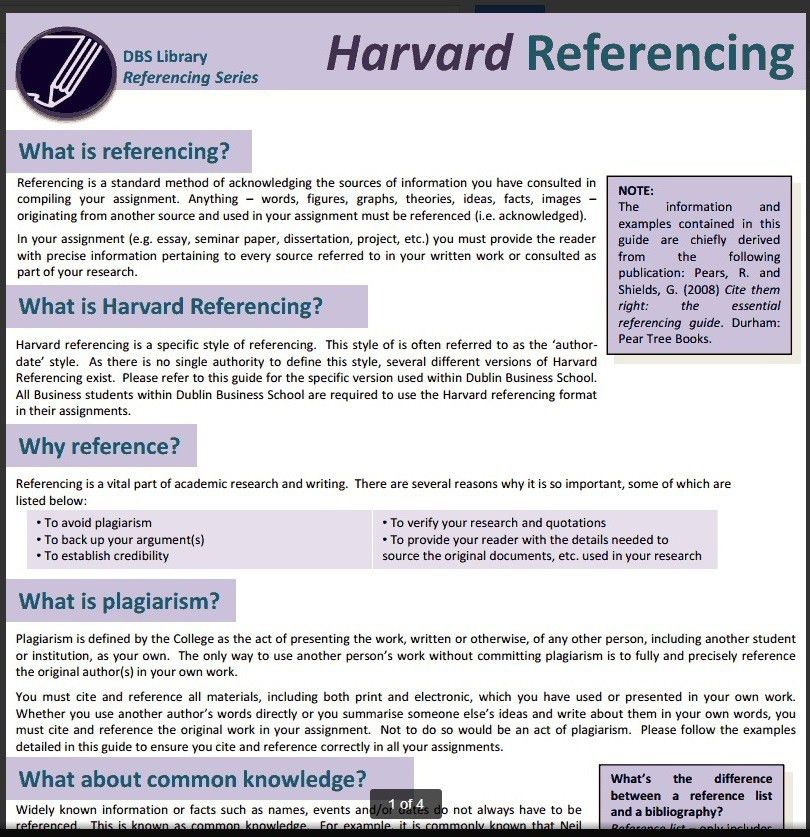 Referencing - Business Subject Guide - LibGuides at Dublin ...