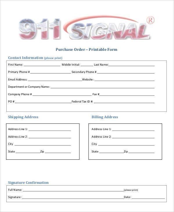 15+ Purchase Order Templates | Free & Premium Templates