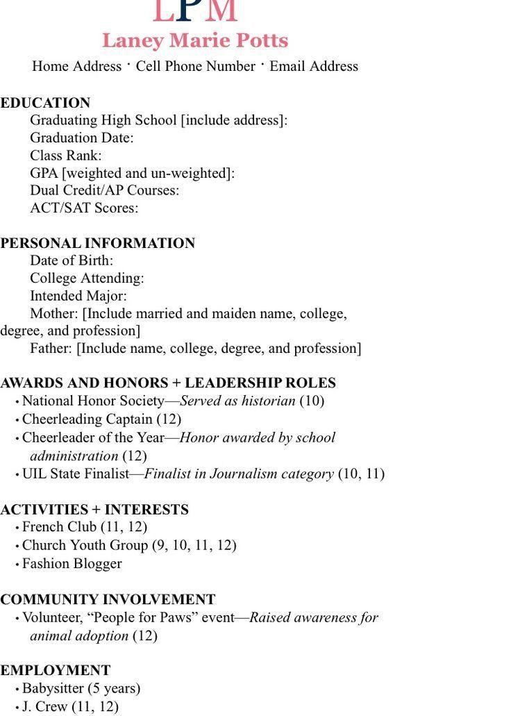 sorority resume example top 25 best sorority resume ideas on