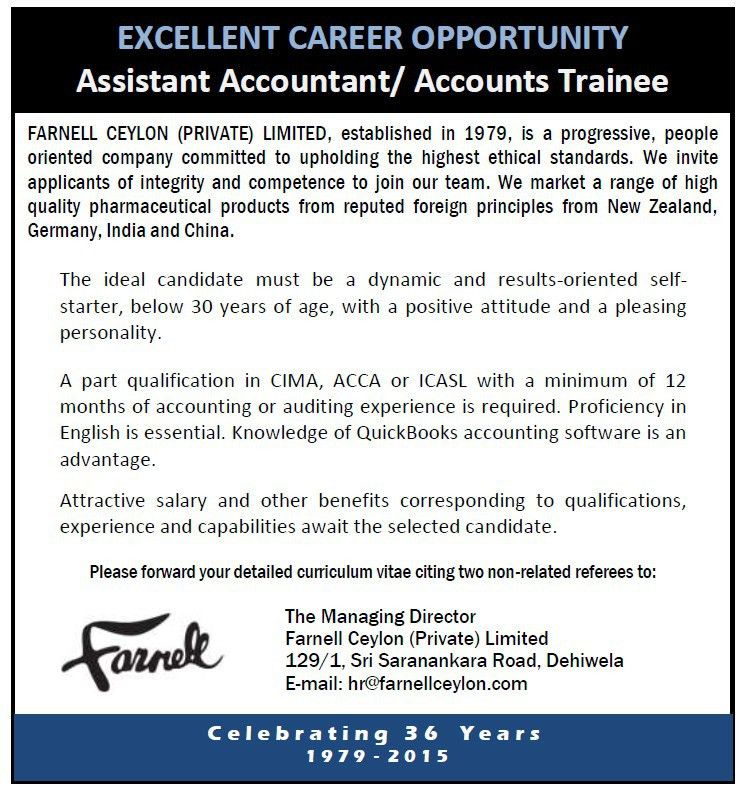 Assistant Accountant / Accounts Trainee,Vacancy,jobs vacancies in ...