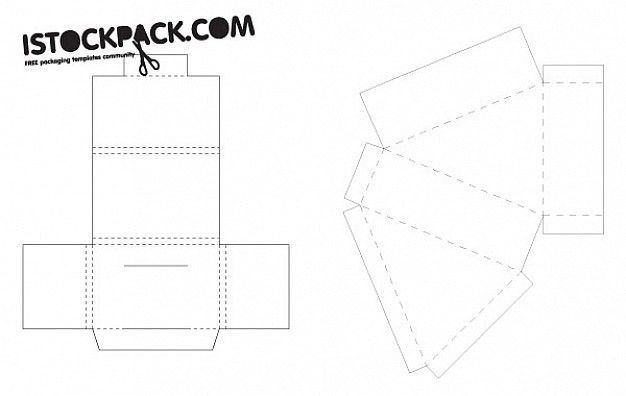 Box Cutout Design Template Vector Vector | Free Download