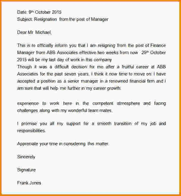 How To Write 2 Weeks Notice.sample Resignation Email Message 2 ...