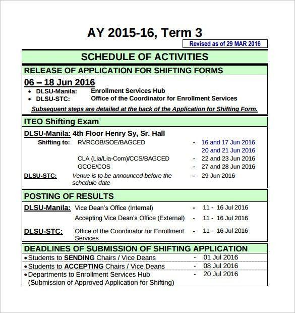 Enrollment Application Template [Nfgaccountability.com ]  Enrollment Application Template