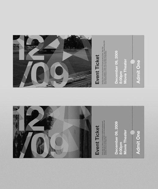 54 best Ticket Designs images on Pinterest | Ticket design, Event ...