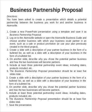 Business Proposal Sample - 9+ Examples in Word, PDF