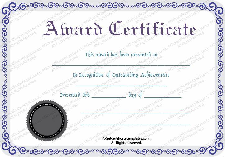 winner certificate templates free
