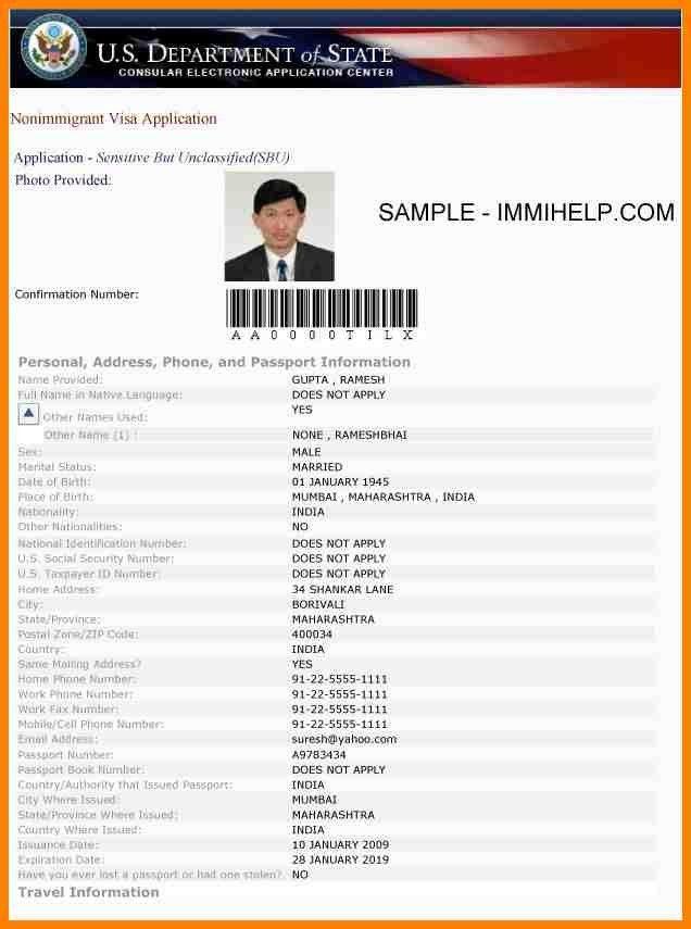 6+ ds 160 visa application form | barber resume