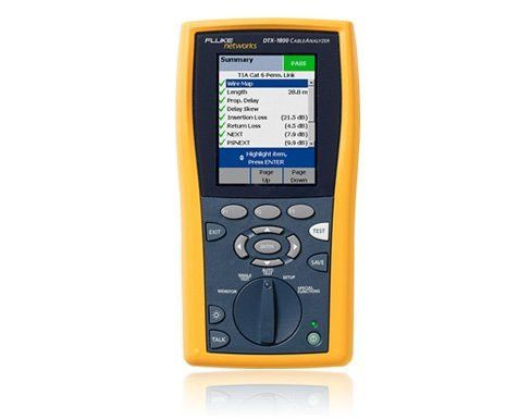 DTX Cable Analyzer - Network Cable Certification Tester | Fluke ...