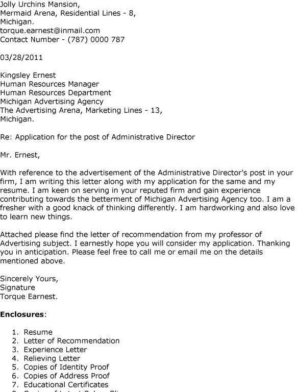 Enclosure Cover Letter. Download Purpose Of A Cover Letter Well ...