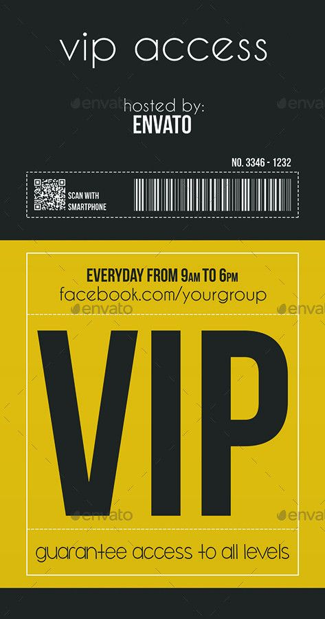 Multipurpose Vip Pass by Tzochko | GraphicRiver