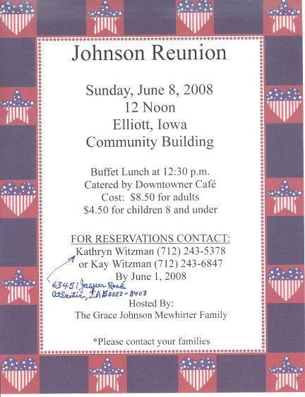 Johnson Family Reunion in Iowa | Other Family, Family Reunion ...