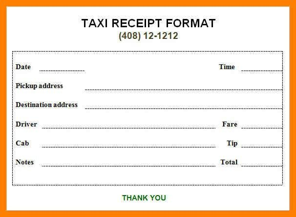 5+ taxi bill format | childcare resume