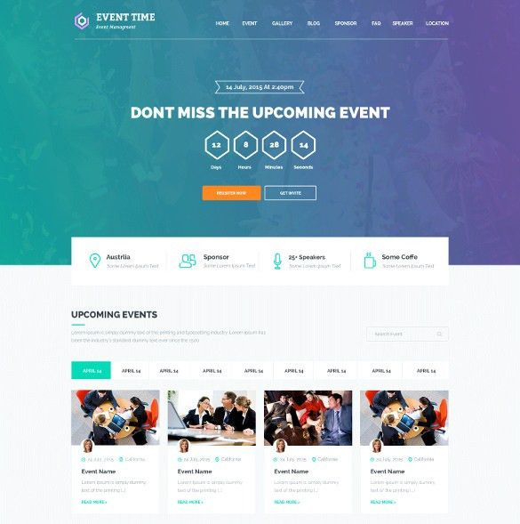 33+ Event Planning Website Themes & Templates | Free & Premium ...