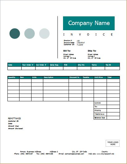 5+ MS Word & Excel Editable Invoice Templates | Word Document ...