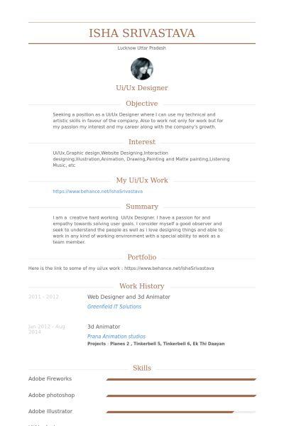 Animator Resume samples - VisualCV resume samples database