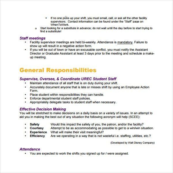 Sample Training Manual. Manual Template Word Handbook Template ...
