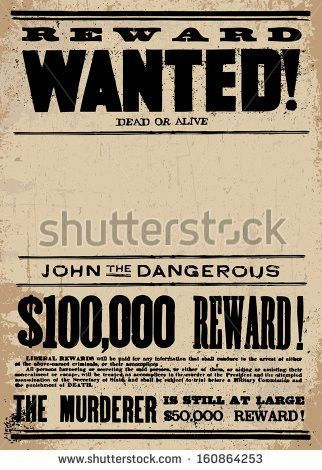 10+ Wanted Poster Template Vectors | Download Free Vector Art ...