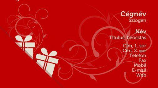 Legújabb névjegykártya minta, ajándékkártya / Latest business card ...