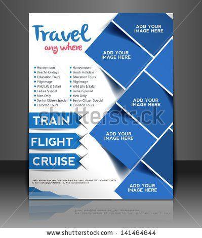 Vector Travel Center Brochure Flyer Magazine Stock Vector ...